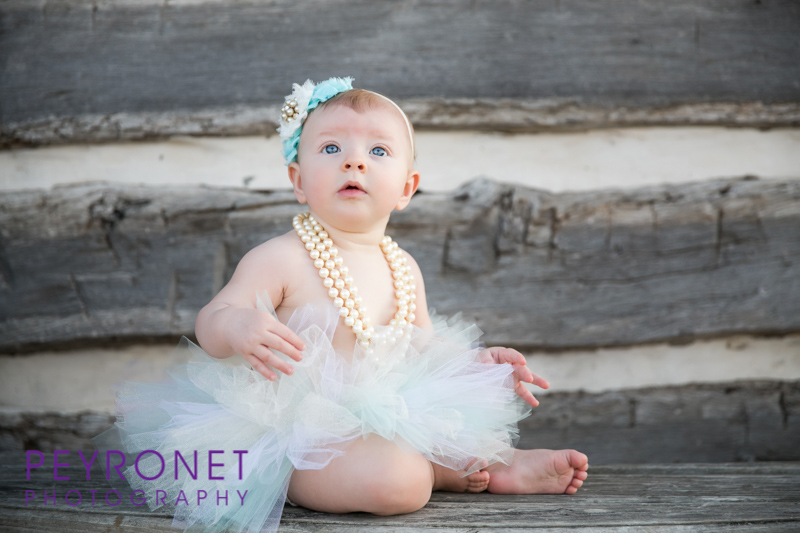 6 month baby girl perals tutu portrait ideas