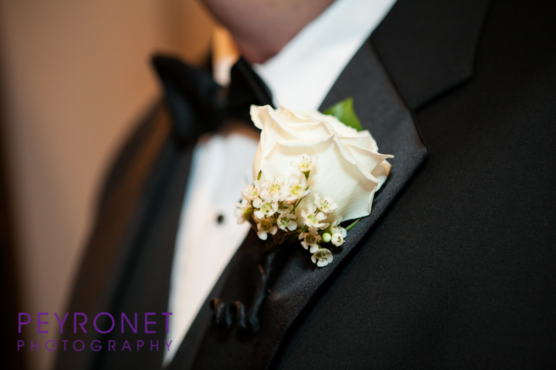 groom boutonniere black tux traditional wedding fort worth church