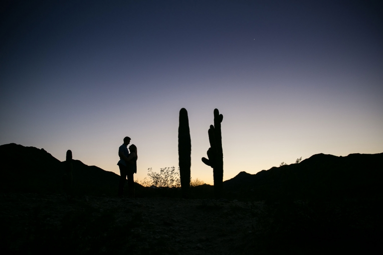 sunset-engagement-silhouette-in-the-desert-with-saguaro-cactus